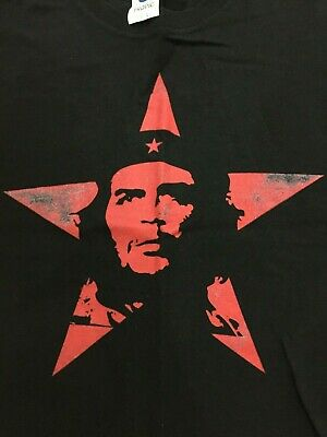 Che Guevara, Classic red star, Retro t-shirt Large