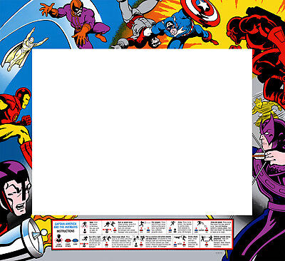 Captain America & The Avengers Arcade Monitor Bezel Sticker Decal