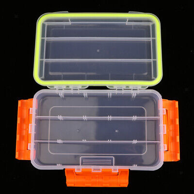 Plastic Fishing Lures Baits Tackle Cell Storage Container Organizer Tool Box