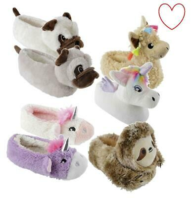 Childrens Boys Girls Slippers Novelty 3D Gift Footwear