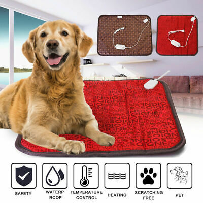 New Pet Dog Bunny Bed Cat Electric Heat Heated Heating Heater Pad Mat Blanket