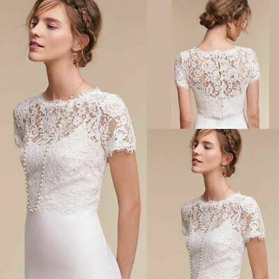 Bridal Bolero Jacket Women Lace Top Wrap Formal Evening Party For Wedding Dress