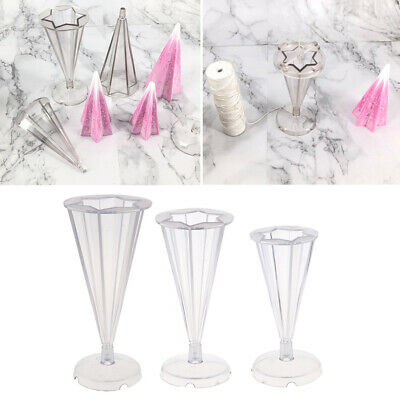 Plastic Cone Candle Making Mold Moulds for DIY Wedding Scented Soap Making