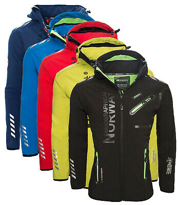 Giacca Giubbotto Jacket Uomo Geographical Norway Softshell Men Rainman cappuccio