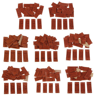 20Pcs Multi-function PU Leather Label Handmade Tag for Sewing Craft Supplies