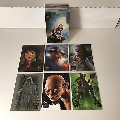 LORD OF THE RINGS: MASTERPIECES SERIES 1 Topps 2006 Complete ALL ART Card Set