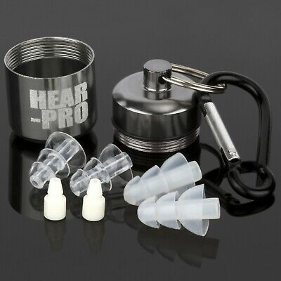 Hear Pro Sonic Hearing Protection Silicone Ear Plugs + Case Defenders Shooting