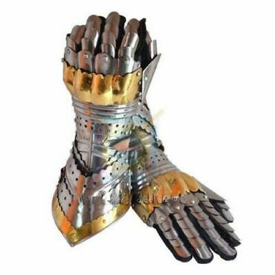 Armour Steel Gothic Gauntlet Gloves Larp Antique Medieval Gloves Iron Gauntlets