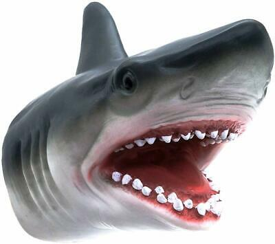 Shark Hand Puppet Soft Kids Toy Gift Great For jaws Cake Decoration Topper
