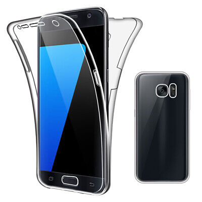 SDTEK Case for Samsung Galaxy S7 Full Body 360 Cover Silicone Front and Back
