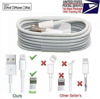 x3 x5 OEM Lightning to USB Charging Cable Fo Apple iPhone 11 Pro X Xs 8-5 Lot US