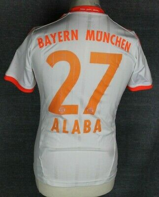 Alaba #27 Bayern Munich Away Football Shirt 12-13 Adidas Youths Large Rare