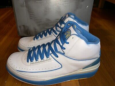 7c2355a9602e9c 2004 Nike Air Jordan Ii 2 Retro Carmelo Melo White Blue Yellow 308308-141 Og