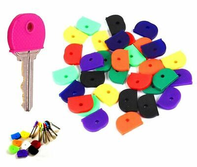 3 x RUBBER KEY CAPS Coloured Plastic Covers Cap/Top Cover Tag Door Identifier UK