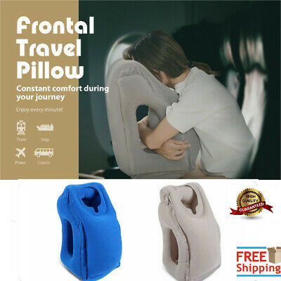 All-In-1 Inflatable Air Travel Pillow Airplane Neck Head Chin Office Nap Pillow
