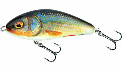 """Salmo Slider 12 Sinking SD12S-WRGS Wounded Real Grey Shiner 4 1//2/"""" Pike Musky"""