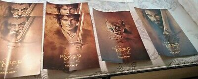 THE HOBBIT ORIGINAL MOVIE POSTERS Set of 4 IMAX Limited Edition Lord Of Rings