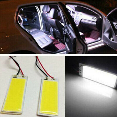 2 X 12V Xenon HID White 36-COB LED Dome Map Light Bulbs Car Interior Panel Lamps