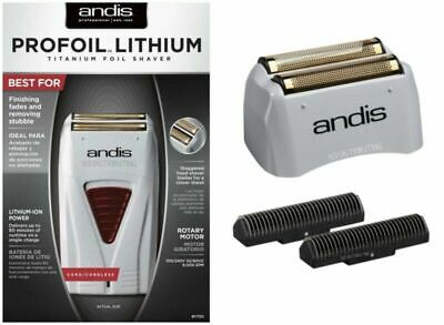 Andis Profoil Lithium Titanium Foil Shaver #17150 +Screen and Cutter #17155 NEW