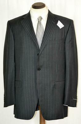 NWT $2295 Ermenegildo Zegna *Italy* Side Vent Charcoal Grey Pinstripe SUIT 42 R
