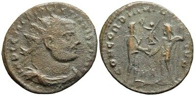 FORVM Diocletian Post-Reform Radiate Jupiter Presenting Victory to Emperor