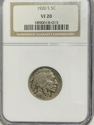 1926 S Ngc Buffalo Nickel Vf20 Key Date  I Am Breaking Up My Complete Set