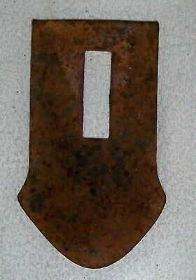Small Short Plow Point Rustic Rusty Farm Barn Antique Primitive Vintage Old
