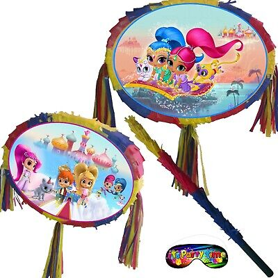 Oval Pinata Kids Smash Party shimmer birthday Shine genies Leah Fun nahal zac