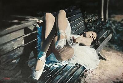 WILLIAM OXER ORIGINAL Love's sweet naked nude Pretty sexy Woman Girl PAINTING