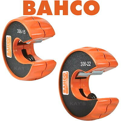 BAHCO 15mm AND 22mm COPPER TUBE CUTTERS AUTOMATIC COMPACT QUICK PIPE SLICERS 306