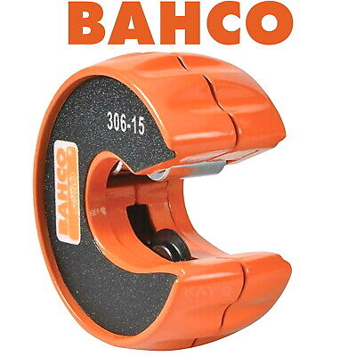 BAHCO 15mm COPPER TUBE CUTTER & WHEEL AUTOMATIC COMPACT QUICK PIPE SLICER 306-15