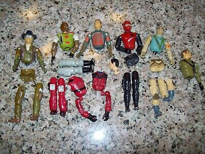GI Joe ARAH lot of Figure Parts Flash Steeler Airborne Wild Bill Gung Ho Weasel