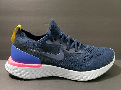 4d3776306f781 Nike Air Epic React Flyknit Mens Size 9 Running Shoes Blue Navy AQ0067 400