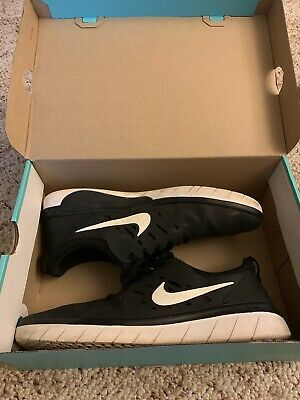 151276a5591f NEW WITH BOX Nike SB Nyjah Free Skate Shoes Size 10   10.5 Black and White