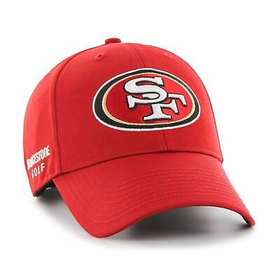 fbcd978be01d6b Bridgestone Golf NFL Cap Hat '47 Adjustable MVP Structured San Fran 49ers  Red