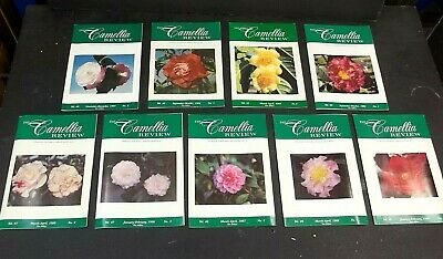 THE CAMELLIA REVIEW  Southern California Society Flowers 1980s Garden Cultivar