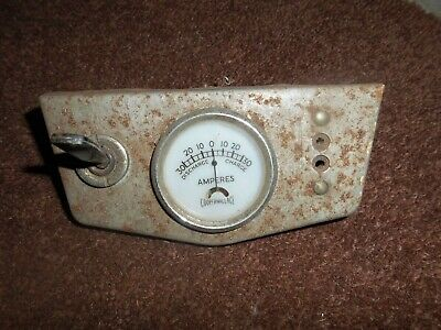 Vintage Cooper Wallace amperes gauge in panel