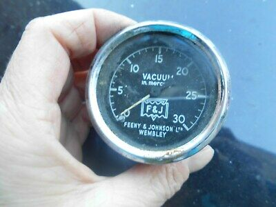Vintage Feeny & Johnson Vacuum gauge in mercury - untested
