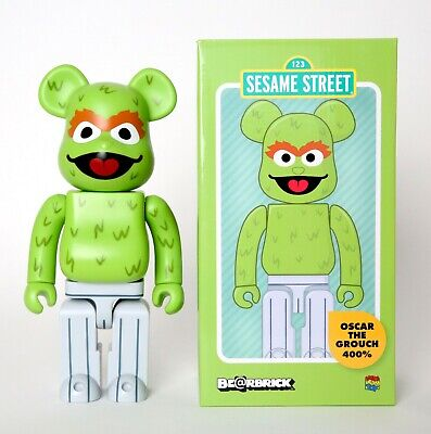 BEARBRICK MEDICOM SESAME Street Elmo Cookie Oscar Big Bird