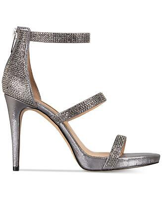 a45223a9c INC International Concepts Womens Sadiee Leather Open Toe, pewter, Size 11.0