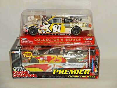 NASCAR Lot of 2  Racing Champions CHASE CHROME 1/24 Scale Jerry Nadeau #01 #25