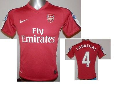 99b1d9c74 2008-10 FC Arsenal Home Shirt Fabregas  4 Football Jersey Soccer size - MB