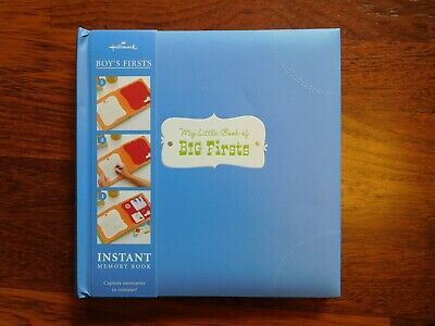 """HALLMARK Boy's """"My Little Book of Big Firsts"""" Memory Book - NEW"""