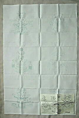 Vintage Cameo Fabric Painting Or Punch Needle Patterns On Fabric 6 Blocks New