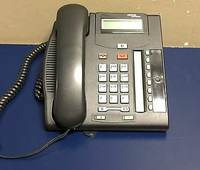 Nortel Norstar T7208 Charcoal Business Phone NT8B26AABA w/ Handset & Base