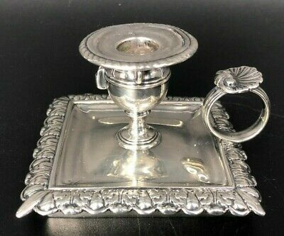 Early Georgian Silver c1820 - Chamberstick REBECCA EMES & EDWARD BARNARD