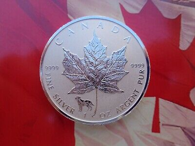 2018 Canadian Maple Leaf coin Reverse Proof Dog Privy .9999 fine silver