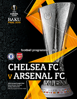 UEFA EUROPA LEAGUE FINAL 2019 Chelsea v Arsenal - Programmes are IN STOCK NOW!