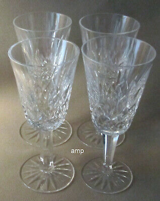 """Waterford Lismore Lot of 4 Sherry Glasses 5 1/8"""" tall PERFECT!"""