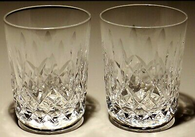 """2 WATERFORD CRYSTAL LISMORE 5 oz. TUMBLER JUICE GLASSES ~ 3 1/2"""" MADE IN IRELAND"""